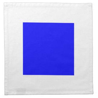 青い正方形が付いている山脈白 ナプキンクロス
