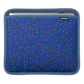 青い正方形のデザインパターンiPadの袖 iPadスリーブ