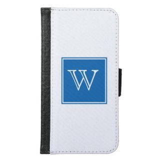 青い正方形のモノグラム GALAXY S6 ウォレットケース