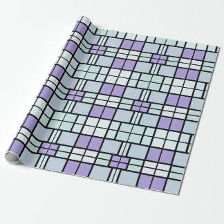 青い正方形の包装紙 ラッピングペーパー