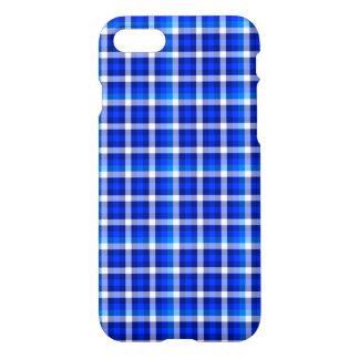 青い正方形の点検パターンファッションのデザイン iPhone 8/7 ケース