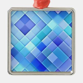 青い正方形の範囲 メタルオーナメント