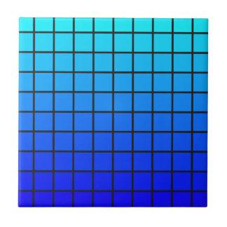 青い正方形色の転位のデザイン タイル