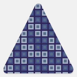 青い正方形 三角形シール