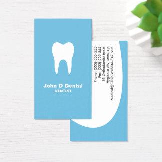 青い歯科歯科医の名刺 名刺