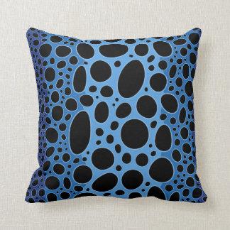 青い毒投げ矢のカエルのプリントの装飾用クッション クッション