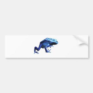 青い毒投げ矢のカエル バンパーステッカー