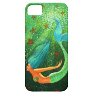 青い毛の人魚のファンタジーの芸術のiPhone 5の箱 iPhone SE/5/5s ケース