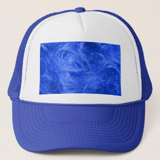 青い毛皮 キャップ
