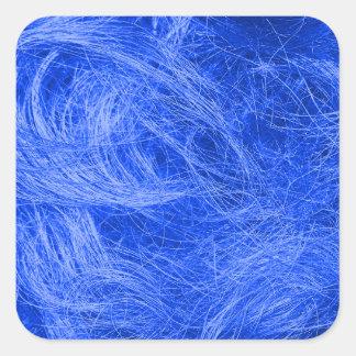 青い毛皮 スクエアシール
