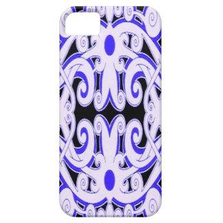 青い民族文化デザインのIphone 5/5sの場合 Case-Mate iPhone 5 ケース