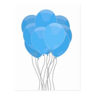 青い気球 ポストカード