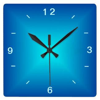 青い水によって照らされるデザイン>明白な柱時計 スクエア壁時計