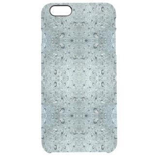 青い水パターン クリア iPhone 6 PLUSケース