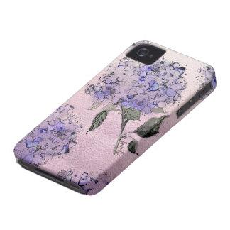 青い水彩画のアジサイのiPhoneの箱 Case-Mate iPhone 4 ケース
