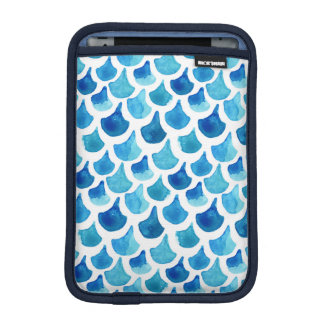 青い水彩画のスケールパターン iPad MINIスリーブ