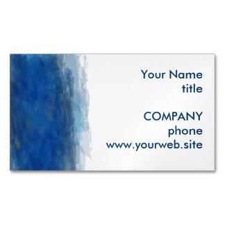 青い水彩画のペンキの抽象芸術の背景 マグネット名刺 (25枚パック)