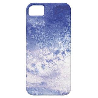 青い水彩画の(ばちゃばちゃ)跳ねるのiPhone 5の箱 iPhone SE/5/5s ケース