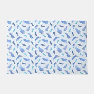 """青い水彩画は斑点を付けますドア・マット24""""にx 36"""" ドアマット"""