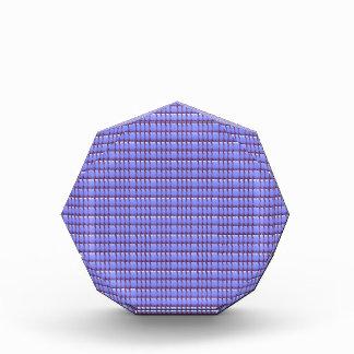 青い水晶テンプレート 表彰盾