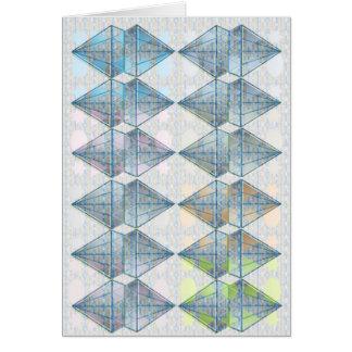 青い水晶パターン カード
