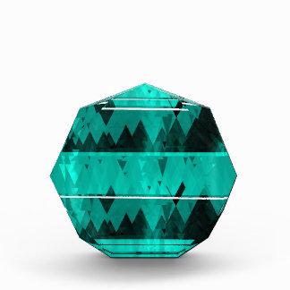 青い水晶氷山パターン 表彰盾