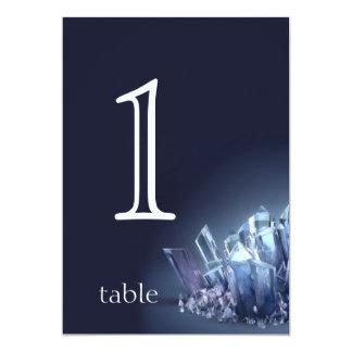 青い水晶第15記念日のテーブル数 カード