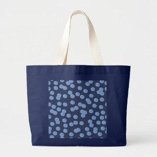 青い水玉模様のジャンボトート ラージトートバッグ