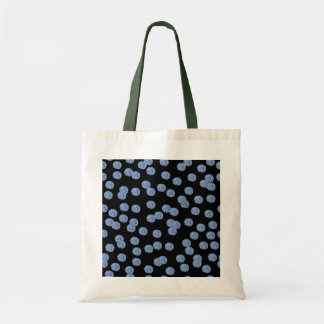青い水玉模様の予算のトート トートバッグ