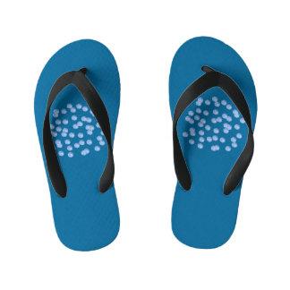 青い水玉模様の子供のビーチサンダル キッズビーチサンダル