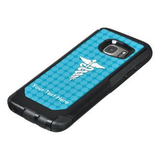 青い水玉模様の白い医学の記号 オッターボックスSamsung GALAXY S7ケース