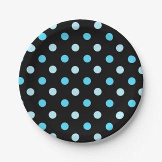 青い水玉模様の紙皿 ペーパープレート