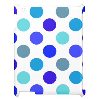 青い水玉模様の陰 iPad CASE