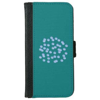 青い水玉模様のiPhone 6/6sのウォレットケース iPhone 6/6s ウォレットケース