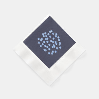 青い水玉模様はカクテルの紙ナプキンを鋳造しました 縁ありカクテルナプキン