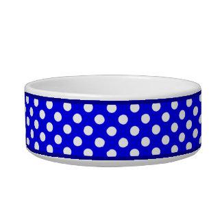 青い水玉模様パターン小さい陶磁器犬ボール ボウル