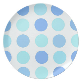 青い水玉模様 プレート