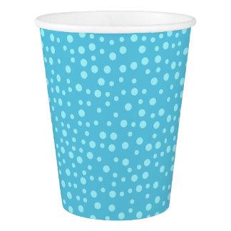 青い水玉模様 紙コップ