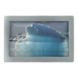 青い氷山 長方形ベルトバックル