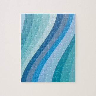 青い波のデザイン ジグソーパズル