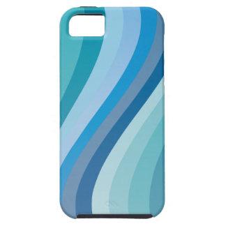 青い波のデザイン iPhone SE/5/5s ケース