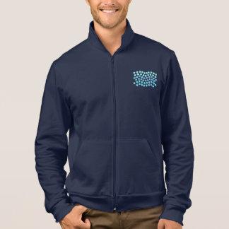 青い波の人のジッパーのジョガー ジャケット