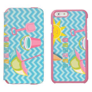 青い波の夏のおもしろい INCIPIO WATSON™ iPhone 5 財布型ケース