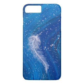 青い波の白く色彩の鮮やかな羽 iPhone 8 PLUS/7 PLUSケース