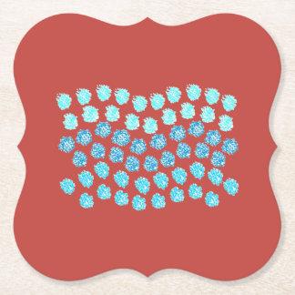 青い波ブラケットの紙のコースター ペーパーコースター
