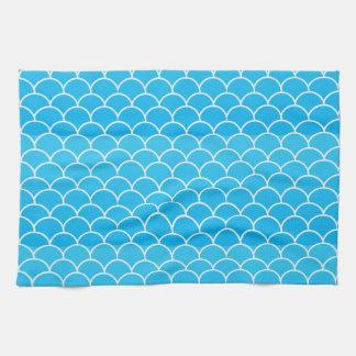 青い波 キッチンタオル