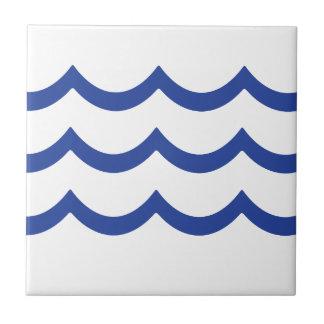 青い波 タイル