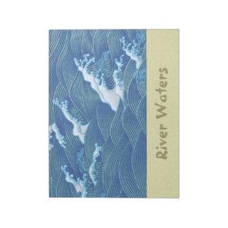 青い波 ノートパッド