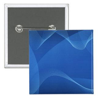 青い波 5.1CM 正方形バッジ