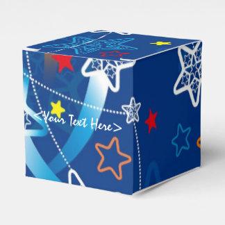 青い流星パターン立方体の好意箱 フェイバーボックス